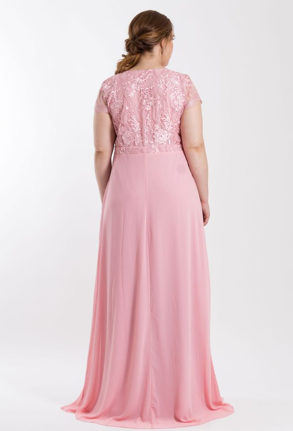 VESTIDO LONGO TULE BORDADO ROSE PS_‬PD164_8045v02rse-b