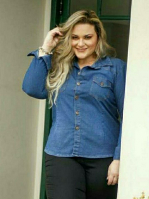 CAMISA JEANS PLUS SIZE