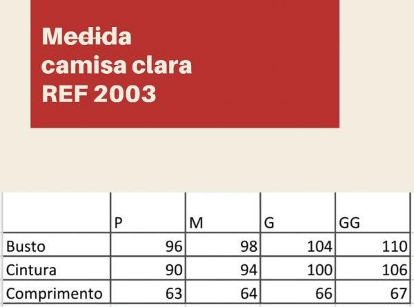 CAMISA JEANS CLARA MANGA 3/4 BUFANTE